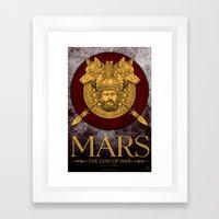 MARS - The God Of War Framed Art Print
