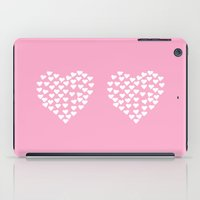 Hearts Heart X2 Pink iPad Case