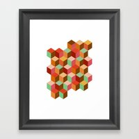 cubes, cubes and more cubes Framed Art Print