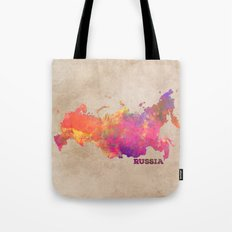 Russia map Tote Bag