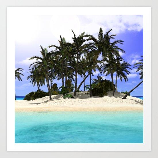 Tropical Island Paradise: Tropical Island Paradise Art Print By Apgme