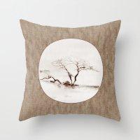 Scots Pine Paper Bag Sepia Throw Pillow