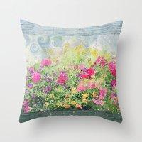 Dreamy Confetti Flower B… Throw Pillow