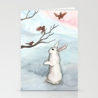 Rabbit In The Winter Sno… Stationery Cards
