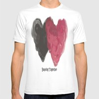 Beating Together Mens Fitted Tee White SMALL