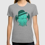 Classy Cthulhu  Womens Fitted Tee Tri-Grey SMALL
