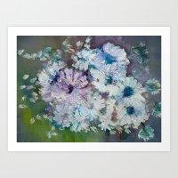 Blue & White Art Print