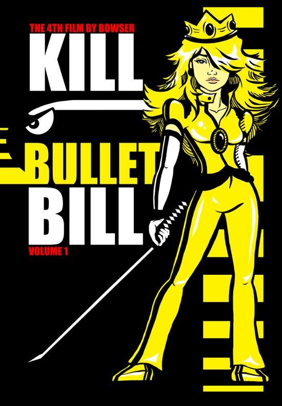 Kill Bullet Bill (Black/Yellow Variant) Canvas Print