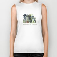 niagara wine country / grapes  / digital painting Biker Tank