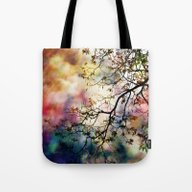 Tote Bag featuring The Tree Of Many Colors by Caleb Troy