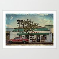 Bronx Pizza Art Print
