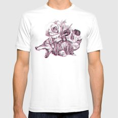 3D SMALL Mens Fitted Tee White