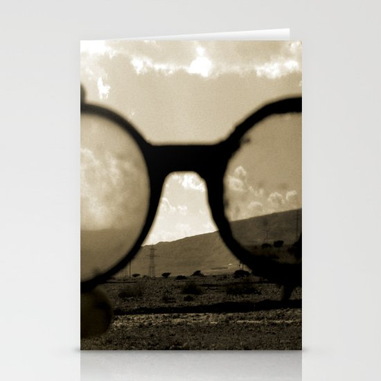 Glasses on the Horizon Stationery Card