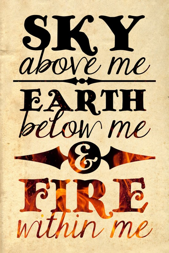 Sky Earth Fire Art Print