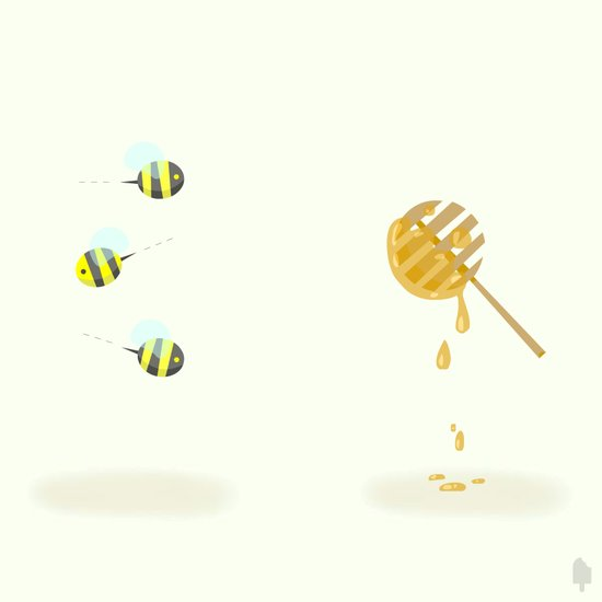 Bees & Honey Art Print