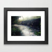 Dusk and Decay Framed Art Print
