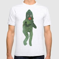 el monstro verde Mens Fitted Tee Ash Grey SMALL