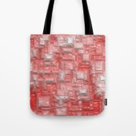Peppy Crystals Red Tote Bag