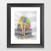 Last Night is a Blur Framed Art Print