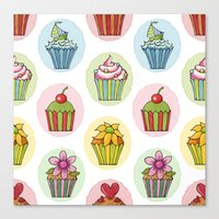 Quirky Cupcakes Canvas Print