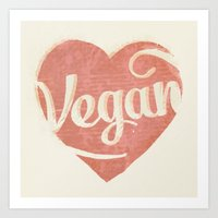 Vegan Love Art Print
