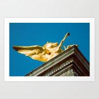 Gold Pegasus Art Print