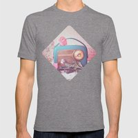 Vintage Radio. Mens Fitted Tee Tri-Grey SMALL
