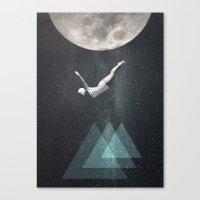 Salto al vacío calculado Canvas Print