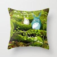 My Neighbor Totoro Throw Pillow