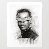 Geordi La Forge Star Trek Art Art Print