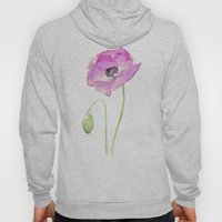 Flower Purple Poppy Flor… Hoody