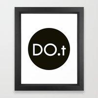 DO.t Framed Art Print