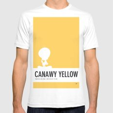 No18 My Minimal Color Code poster tweety White SMALL Mens Fitted Tee