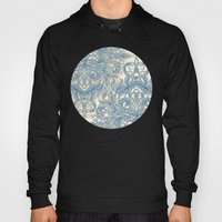 Blue & Tan Art Nouveau Pattern Hoody