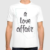 a love affair Mens Fitted Tee White SMALL