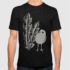 Graphic Bird Mens Fitted Tee Tri-Black SMALL
