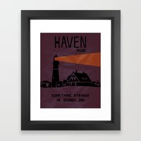 Haven Tourism Board Framed Art Print