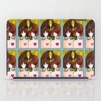 Love Rainbow And Hearts iPad Case