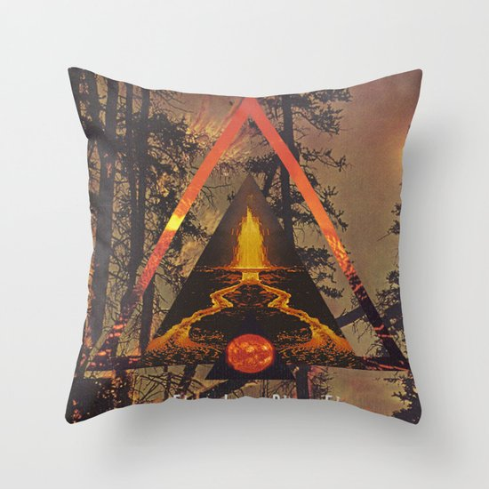 MYSTIC//FIRE Throw Pillow