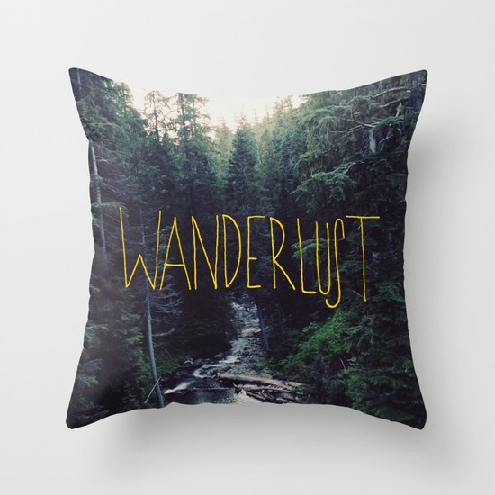 Wanderlust: Rainier Creek Throw Pillow