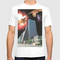 The Coming Of The Celestials Mens Fitted Tee White SMALL