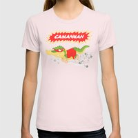 Caimanman Womens Fitted Tee Light Pink SMALL