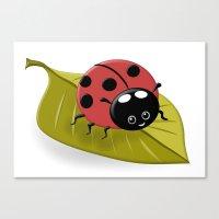 Happy Ladybug Canvas Print