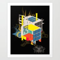 rubik's building - vienna 2044 - 4 colors version Art Print