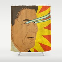 Ronald Raygun Shower Curtain