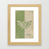 Legend of Zelda: Triforce Framed Art Print