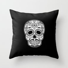 Mexican Skull - Black Edition Throw Pillow