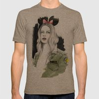Army Girl Mens Fitted Tee Tri-Coffee SMALL