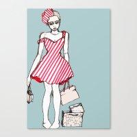 Frazzled Shopper Canvas Print