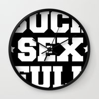 Suck sex full Wall Clock